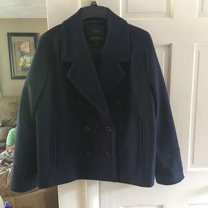 J Crew wool pea coat.